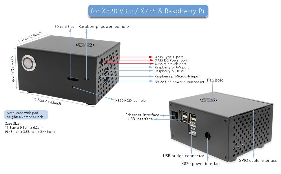 x820 metal case