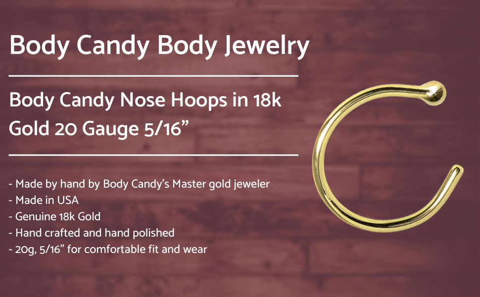 bodycandy nose hoops body candy nostril hoops gold 18k
