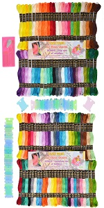 friendship bracelet thread, embroidery, bobbins, cross stitch