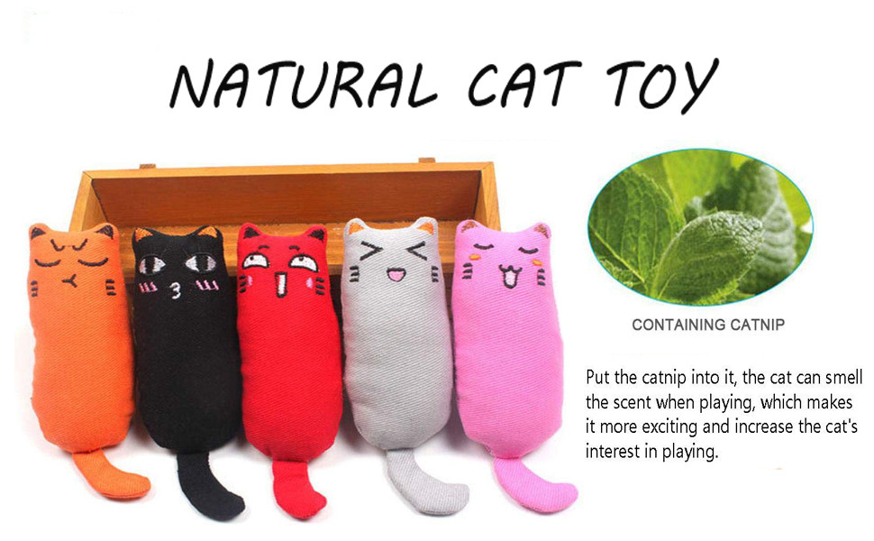 There are 5 pcs cat catnip toys.