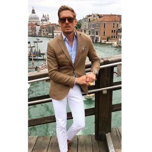 COOFANDY Men's Casual Blazer Jacket Slim Fit Sport Coats Lightweight One Button Suit Jacket