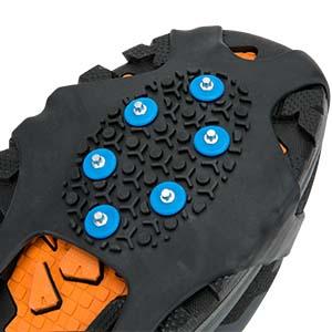 Schuhkrallen mit 11 Z/ähnen Steigeisen mit Edelstahlspikes f/ür Kinder Unisex Jugendliche Baoblaze Schuhspikes