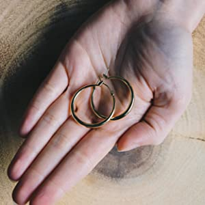 Gold 30mm Hoop Earrings