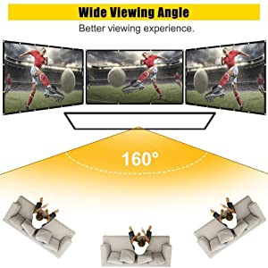 160 viewing angle 84 Inch 150 120 inch