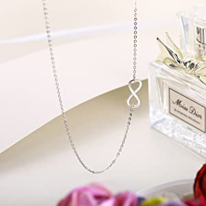 infinity love choker necklace for her