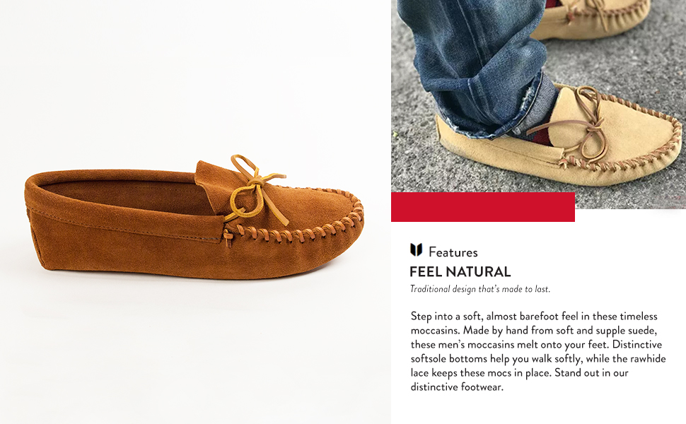 Leather Laced Softsole Moccasin