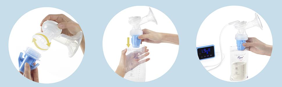 Bellababy Bomba de lactancia port/átil de silicona con tapa peque/ña y discreta bomba de leche materna Blanco-02 sin BPA y 100/% silicona de grado alimenticio