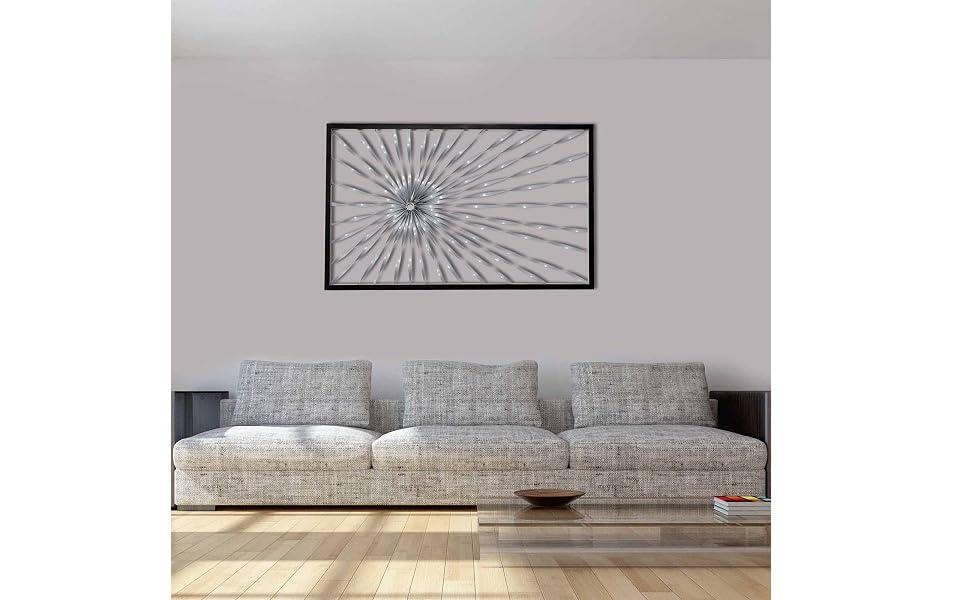 Amazon Com Decorlives Sun Flayer Design Metal Wall Art Sculpture Home Decor Wal Hanging Everything Else