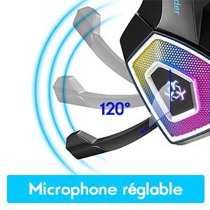 Microphone réglable avec fonction antibruit