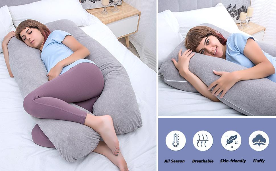 Pregnancy pillow for full body support