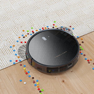 Aspirateur robot Tesvor M1 Wifi avec carte dambiance en temps r/éel 4000 PA Puissance puissante Aspirateur robot poils danimaux et allerg/ènes Optimis/é pour les tapis et les sols lisses Compatible avec Alexa et contr/ôle APP.