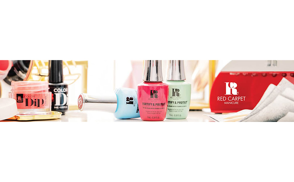 red carpet manicure, fortify and protect, led gel polish