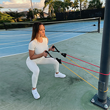 fit simplify resistance bands with handle and ankle attachment bands for bicep shoulder butt thigh
