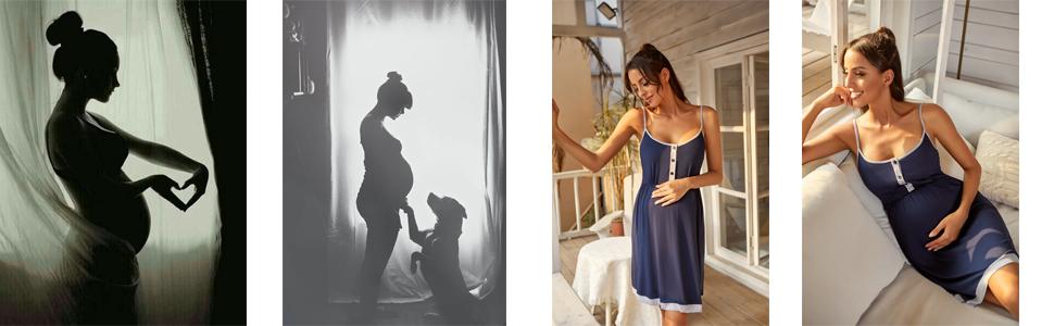 Pregnancy Soft Breastfeeding Dress