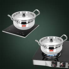 INDUCTION AS WELL AS GAS STOVE