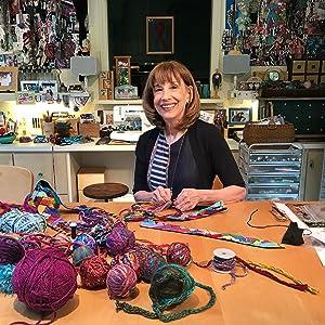 Lynn Reiter Weinberg in her Studio
