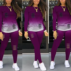 purple tracksuits