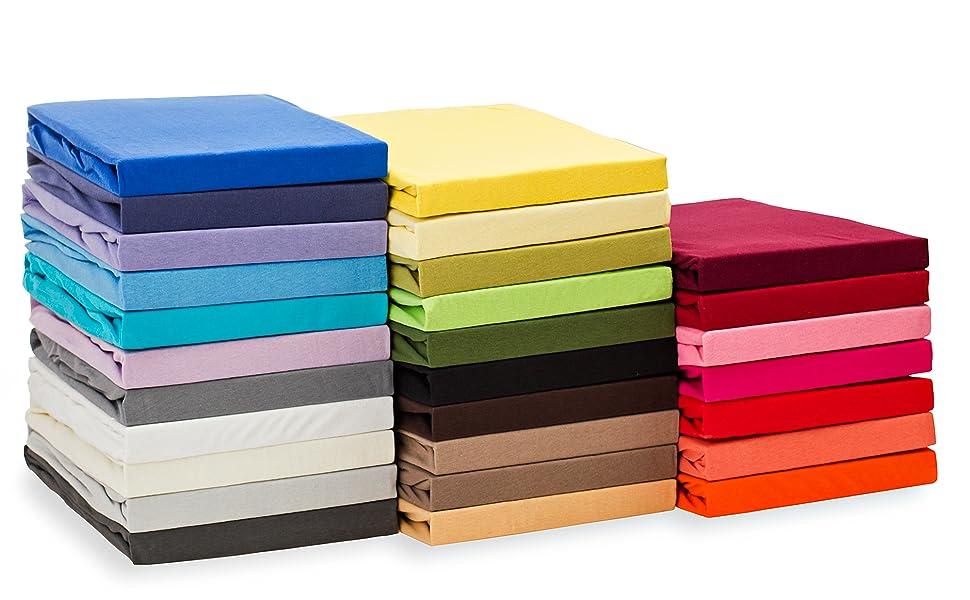 Spannbettlaken 100x200 Jersey Hell Blau Bettlaken 100/% Baumwolle Qualität