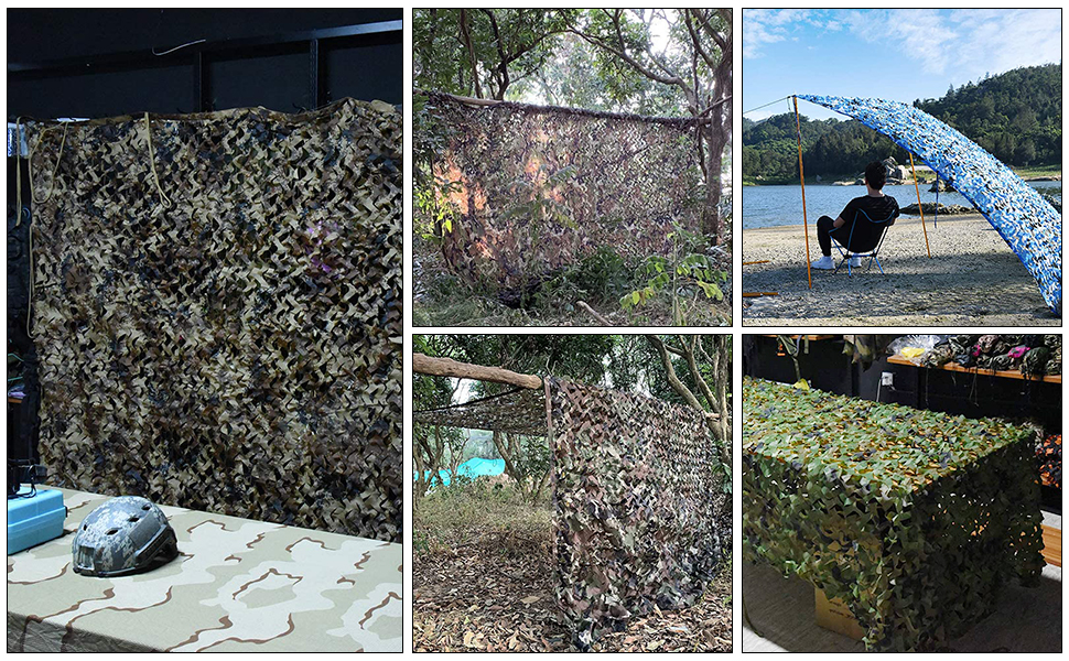 Tongcamo 150D Camo Netting Camouflage Net Hunting Blinds for Hunting, Sunshade, Decoration, Fence