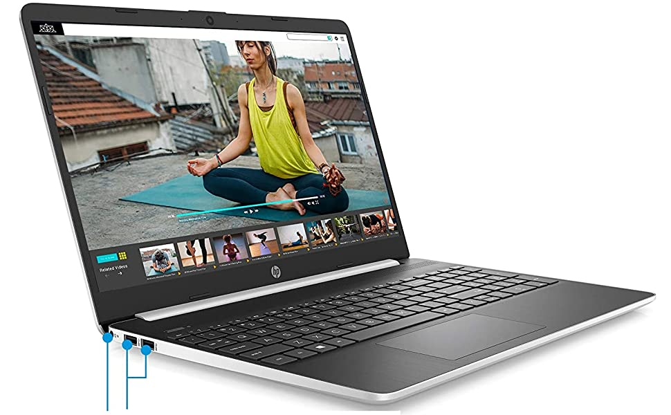 HP 15-dy1045nr Notebook  2020 Newest HP 15 15.6″ HD Micro-Edge Business Laptop (10th Gen Intel Core i5-1035G1, 8GB DDR4 RAM, 256GB PCIe M.2 SSD) USB Type-C, HDMI, HD Webcam, Windows 10 Home Silver + IST HDMI Cable 5f08dfa5 01ec 427f 8f4d 6cf74ff07c45