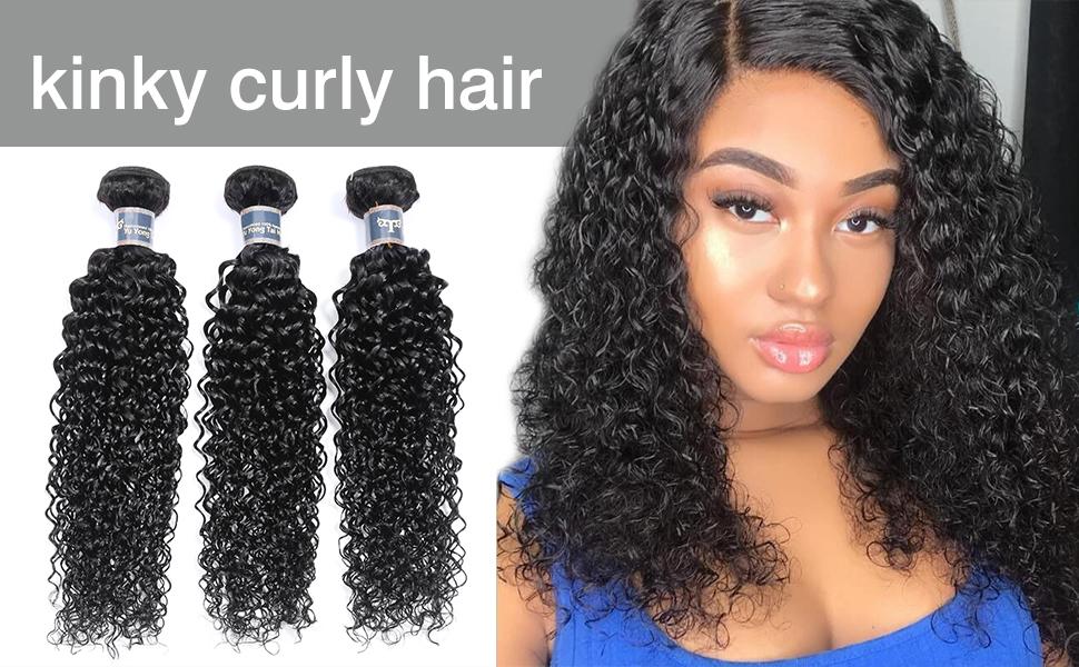 kinky curly hair bundle