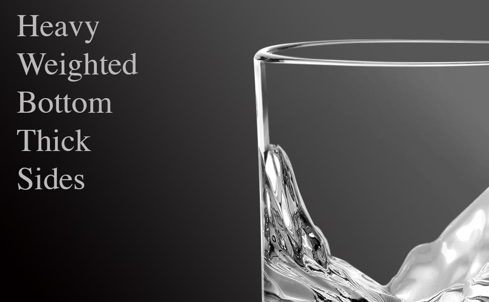 Thick Whiskey Glasses: Durable Whiskey Glasses; Men's Whiskey Glasses