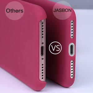 JASBON H/ülle f/ür iPhone 11 Silikon Handyh/ülle mit Schutzfolie Schutz vor Sto/ßfest//Kratzen Schutzh/ülle Bumper Case Cover f/ür iPhone 11 6,1 Zoll Dunkelgr/ün