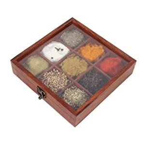 wooden spice box 12 containers