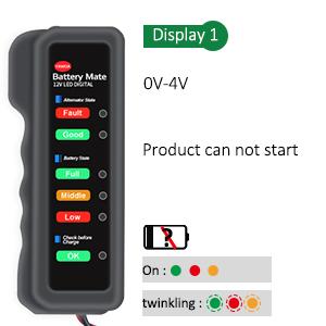 Battery tester alternator tester lamp status  (1)