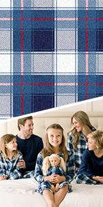 Detail image of Christmas family matching pajamas.