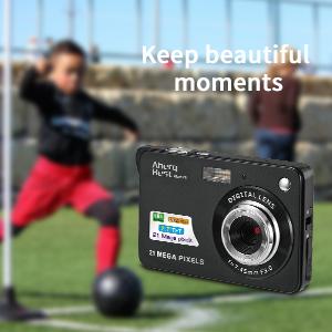 "Flashandfocus.com 5f1c7a6e-6896-4d3e-9d09-daa2e84e1b1e.__CR0,0,300,300_PT0_SX300_V1___ AbergBest 21 Mega Pixels 2.7"" LCD Rechargeable HD Digital Camera,Video camera Digital Students cameras,Indoor Outdoor for Adult/Seniors/Kids (Black)"