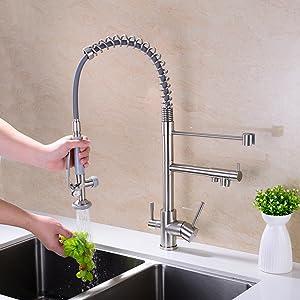 kitchen faucet pull down sprayer