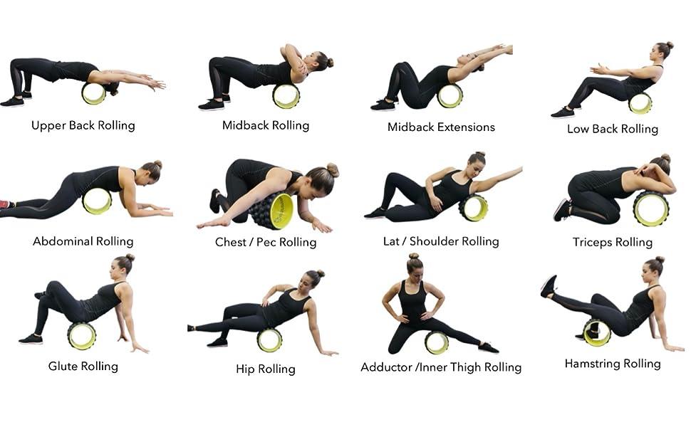 acumobility, back roller, back pain, back massager, yoga wheel, roller, foam roller