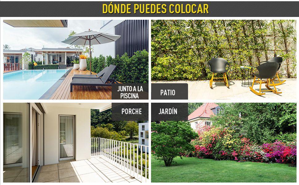 Outsunny Banco Jardín Lounge Silla 2 Plazas Muebles para Jardín Exterior Terraza 2 Plazas Ratán Sintético Carga 320kg 122x60x87cm Marco Acero: Amazon.es: Jardín