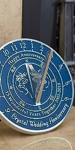 35th corail 2020 anniversaire de mariage Cadran solaire cadeau par la fonderie de métaux