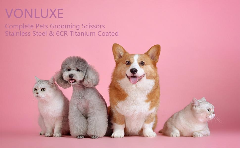 VONLUXE Pets Grooming Scissors