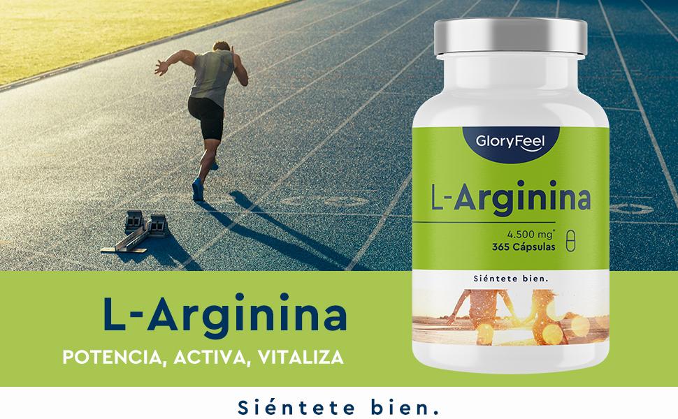 L-Arginina - 365 cápsulas veganas - 4500mg de L-Arginina HCL vegetal por dosis diaria (=3750mg de L-Arginina pura) - Probado en laboratorio, alta ...
