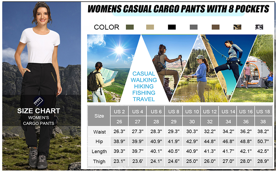 Women's cargo pants hiking pants women tactical military pants