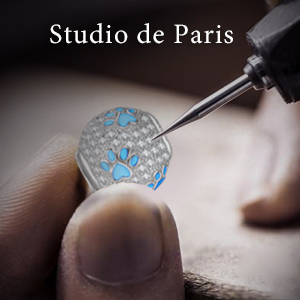avec Boite Cadeau /Émail Exquis NINAQUEEN/® Charm et Perles Empreintes de Patte Ami Argent Sterling 925 Zircone