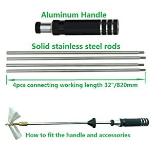 Handle and rod