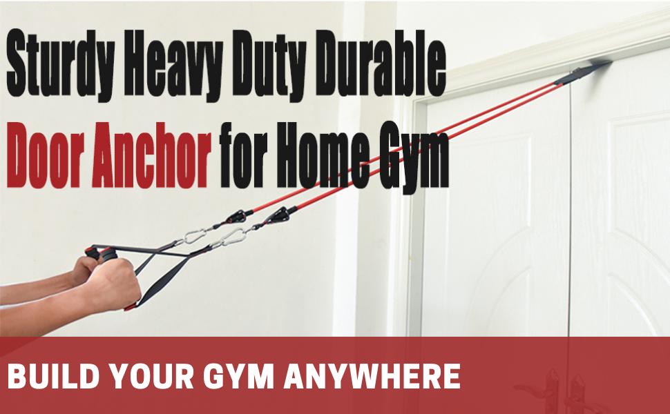 home gym resistance bands set door anchor