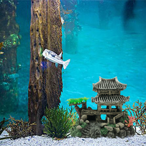 Chinese Ancient Building Fish Tank Decor