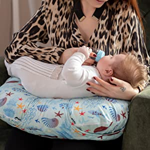 Designed for breastfeeding and bottle feeding