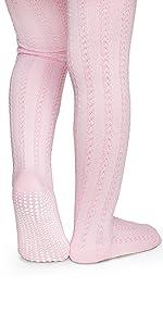 neonato in calzamaglia con cuciture rosa collant con suola antisdrucciolevole antiscivolo