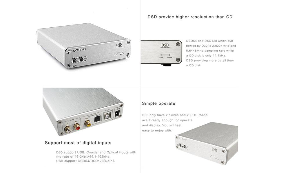 hifi dac hifi decoder desktop dac DAC Converter coaxial optical audio converter dac converter d50