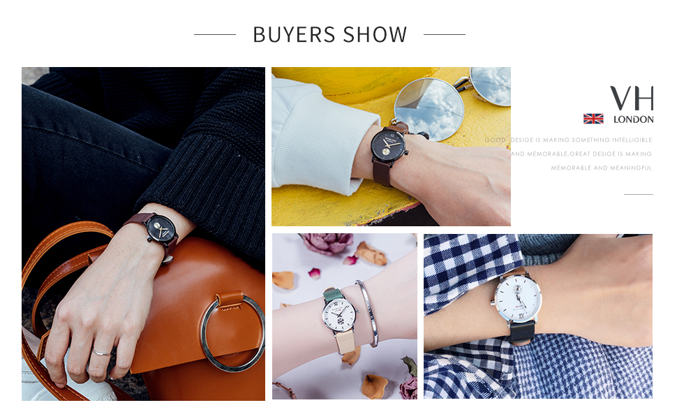 women watches ladies quartz wristwatch genuine leather strap small dial