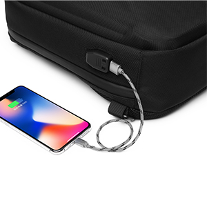 Sling bag with USB charging port