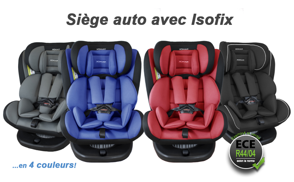 Si/ège Auto Isofix pivotant 360 degr/és I inclinable I Groupe 0+//1//2//3 I evolutif 0-36 kg 0-12 ans I Housse amovible et lavable I ECE R44//04