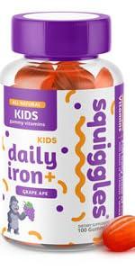 childrens gummy vitamin with iron, kids multivitamin iron gummies, toddler iron gummy