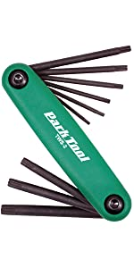 Park Tool Fold-up wrench set Includes 1x AWS-10 Hex and 1x TWS-2 Torx FWS-2